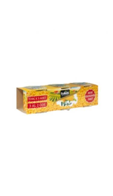 TUKAS MISIR KONSERVESI EKONOMIK 3X220 GR (grains de maïs en conserve)