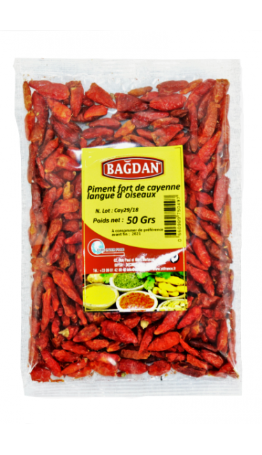 BAGDAN ACI BIBER CAYENNE KUS DILI 50 GR (piment fort cayenne langue d'oiseau)