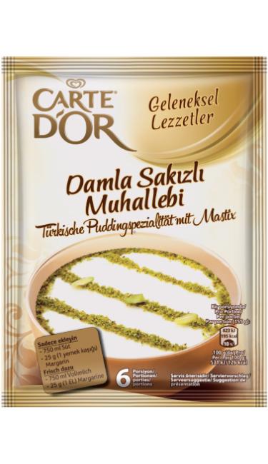 CARTEDOR DAMLA SAKIZLI MUH. 12 X 134 G (préparation crème dessert à la gomme)