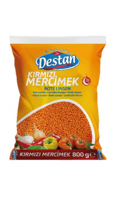 DESTAN KIRMIZI MERCIMEK/FUTBOL 800 GR (lentille rouge)
