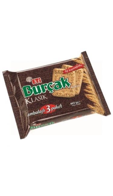 ETI BURCAK KLASIK 3'LU 393 GR (biscuit au blé complet)