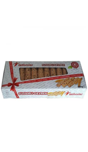 TATLICILAR SUSAMLI GEVREK 500 GR (gateaux secs salés-graines de sésame)