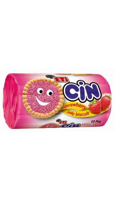 ETI CIN FRAISE 351 GR (biscuits nappés de gelée et vermicelles à la fraise)