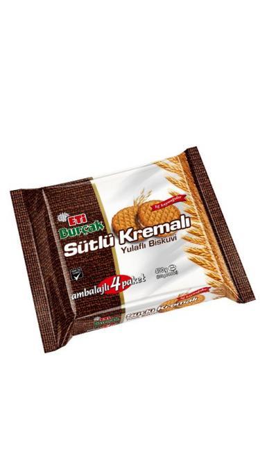 ETI BURCAK SUTLU YULAFLI 4'LU 400 GR (biscuit avoine à la crème)