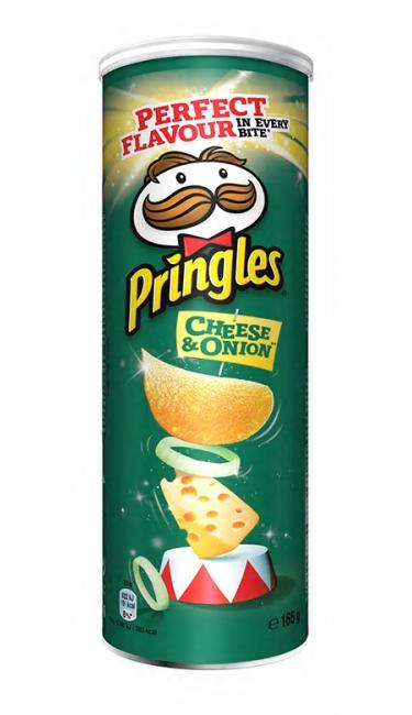 PRINGLES ONION/CREAM 19X165GR