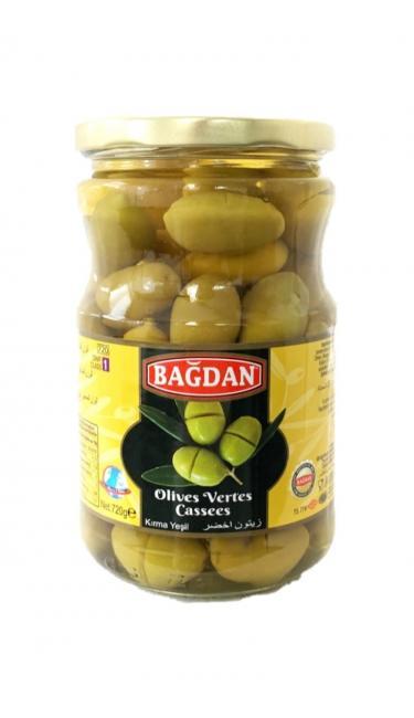 BAGDAN CAM YESIL ZEYTIN KIRMA  (olives vertes concassées)