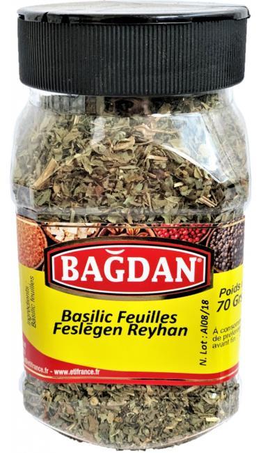 BAGDAN FESLEGEN REYHAN PET KAVANOZ 12x70gr (basilic feuilles pot plastique)