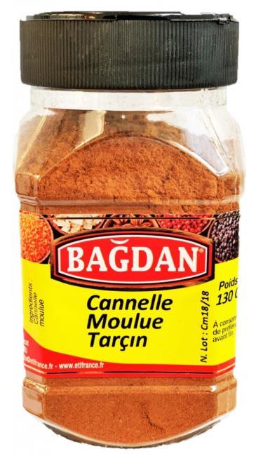 BAGDAN TARCIN TOZ PET KAVANOZ 12x130gr (cannelle moulu pot plastique)