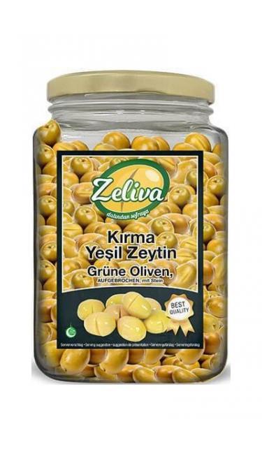 ZELIVA YESIL ZEYTIN KIRMA   (olives vertes concassées)