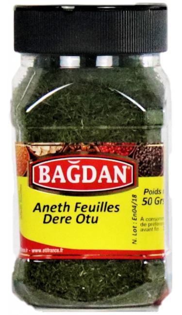 BAGDAN DEREOTU PET KAVANOZ 12x50gr (aneth feuilles pot plastique)