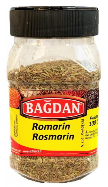 BAGDAN BIBERIYE/ROSMARIN PET KAVANOZ 12x100gr (romarin feuilles pot plastique)