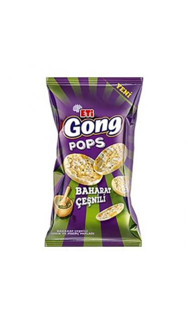 ETI GONG MINI BAHARAT CESNILI 80 GR (riz et maîs souflé épicés)