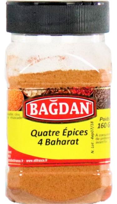 BAGDAN KIYILMIS 4 BAHARAT PET KAVANOZ 12x160gr (4 epices moulues pot plastique)