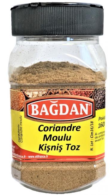BAGDAN KISNIS TOZU PET KAVANOZ 12x160gr (coriandre moulu pot plastique)