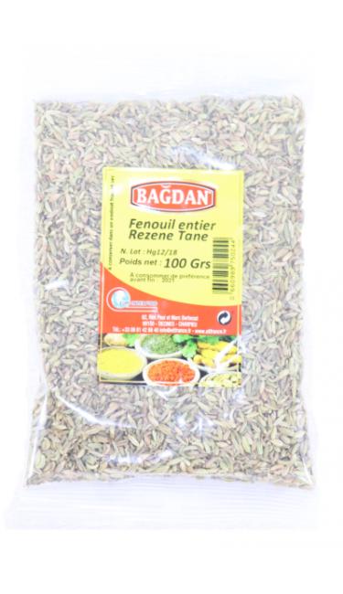 BAGDAN REZENE TANE 100 GR (fenouils grains)
