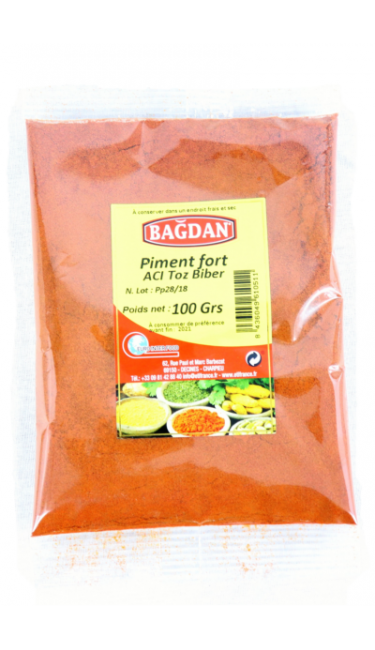 BAGDAN ACI TOZ BIBER 100 GR (piment fort)