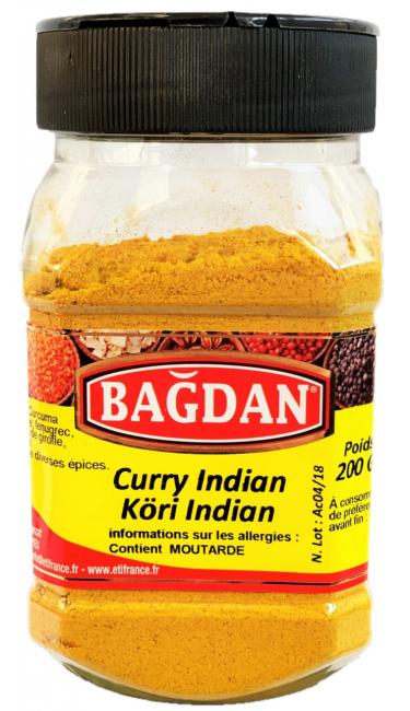 BAGDAN KORI INDIAN PET KAVANOZ 12x200gr (curry indienmoulu pot plastique)