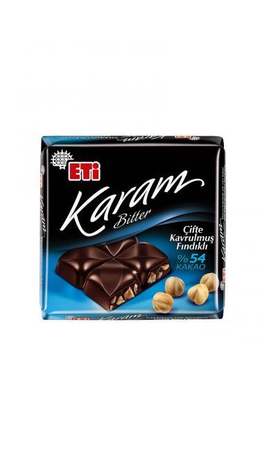 ETI KARAM BITTER FINDIK CIKOLATALI %54 CACAO 70 GR  (chocolat noir 54%)