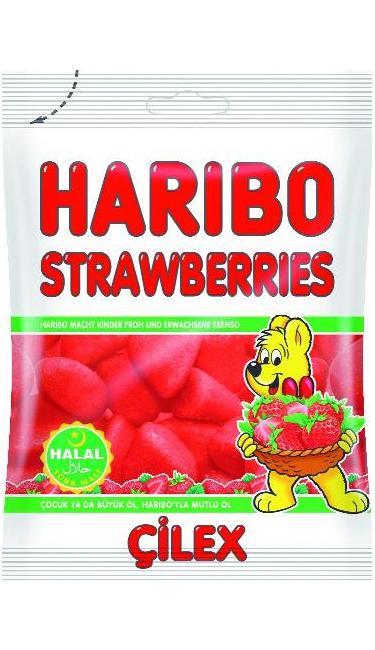 HELAL HARIBO CILEK 80 GR (bonbons fraise tagada)