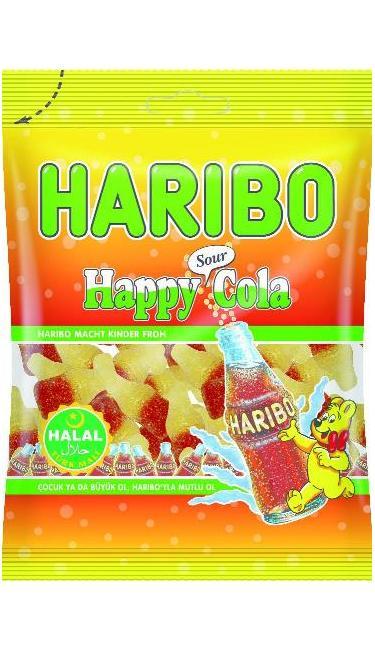 HELAL HARIBO SOUR COLA 100 GR (bonbons cola acidulés)