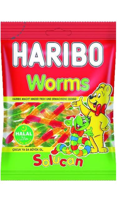 HELAL HARIBO SOLUCAN 100 GR (bonbons vers de terre)