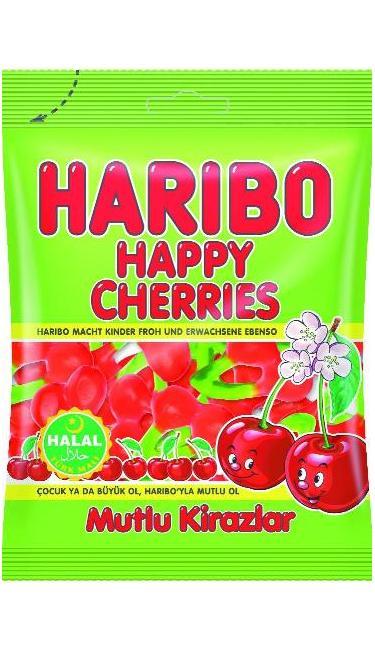 HELAL HARIBO MUTLU KIRAZLAR 80 GR (bonbons gout cerise)