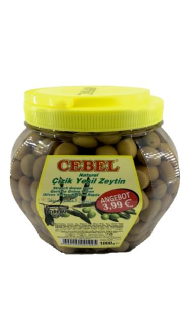 CEBEL Y. ZEYTIN CIZIK PET 1000 GR (321-350) PROMO (olive verte taillées)