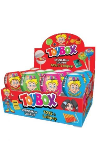 TOYBOX LOLIPOP OYUNCAKLI 11Gr 12li (sucette avec jouet)