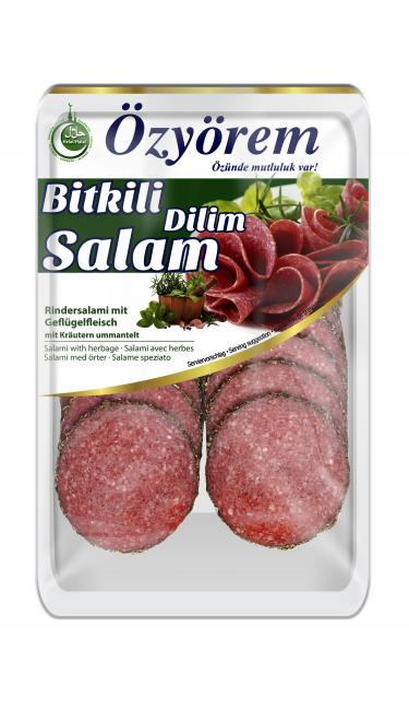OZYOREM BITKI DILIM SALAMI 80 GR (tranches de salami aux herbes)