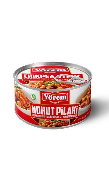 YOREM NOHUT PILAKI TNK 12x400G (pois chiche en sauce pilaki)