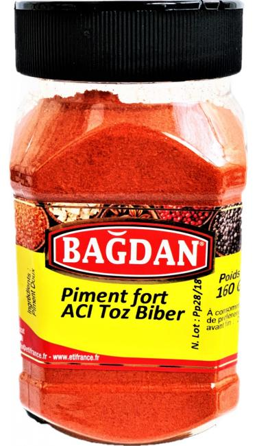 BAGDAN ACI TOZ BIBER PET KAVANOZ 12x160gr (  piment fort moulu pot plastique)