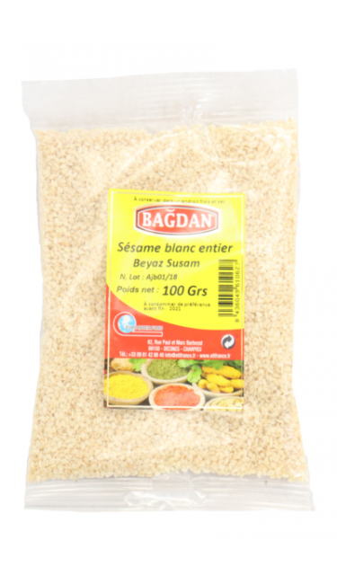 BAGDAN BEYAZ SUSAM 100 GR (sesame blanc)