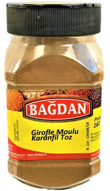 BAGDAN KARANFIL TOZ PET KAVANOZ 12x160gr (girofle clous moulu pot plastique)