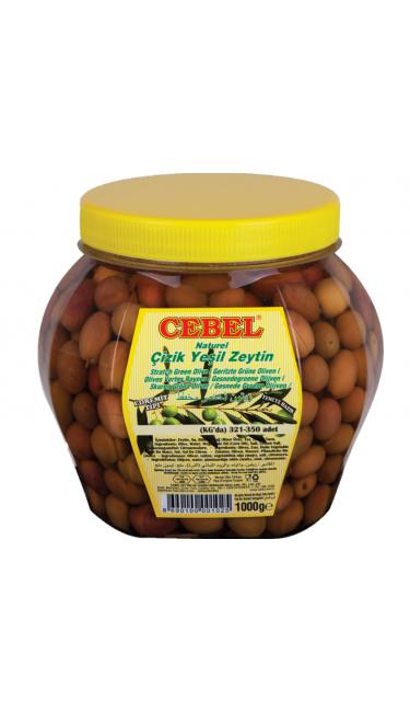 CEBEL Y. ZEYTIN CIZIK PET 1000 GR (321-350) (olive verte coupé)