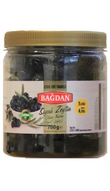 BAGDAN S.ZEYTIN COK IRI TANELI 6x700GR PROMO 4.99 ( olives noir cal. très gros)