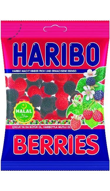 HELAL HARIBO BERRIES 80 GR ( Mûre )
