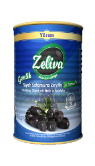 ZELIVA GEMLIK S.ZEYTIN SALAMURA IRI TANEM 800 GR (olives noires gros cal.)