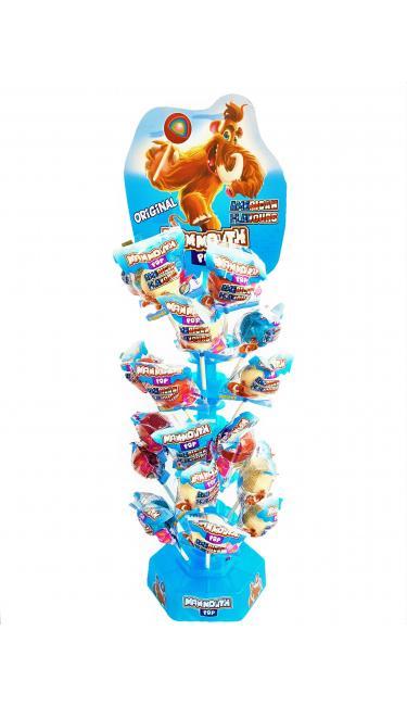 MAMMOUTH POP USA STANDLI 72 PCS (boules de mammouth avec présentoire)