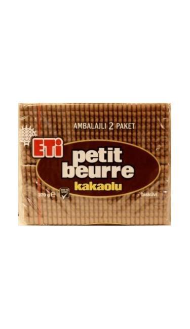 ETI PETIT BEURRE KAKAOLU 370 GR (petit beurre au cacao)