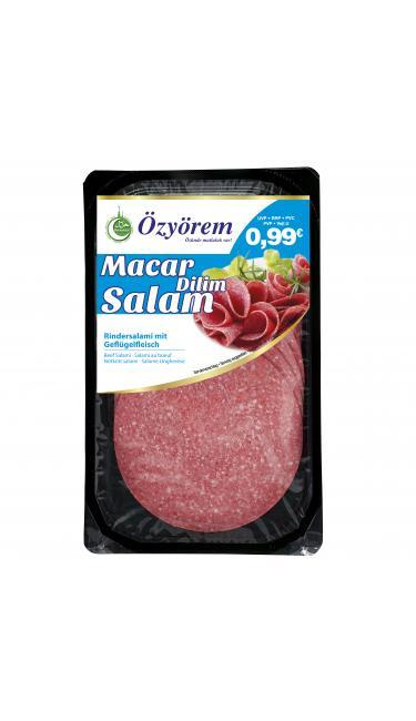 OZYOREM MACAR DILIM SALAMI 80 GR PROMO (tranches de salami macar)