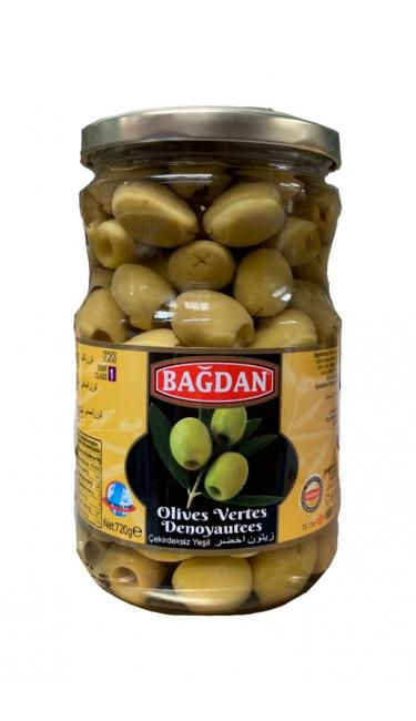 BAGDAN CAM YESIL ZEYTIN CEKIRDEKSIZ  (olives vertes dénoyautées)