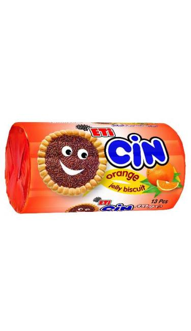 ETI CIN ORANGE 351 GR (biscuits nappés de gelée d'orange et vermicelles au chocolat)