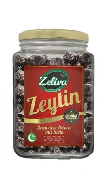 ZELIVA GEMLIK SELE S.ZEYTIN CAM 900G (olives noires)