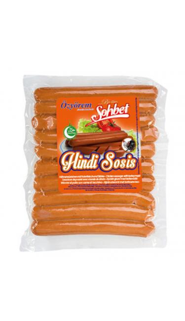 OZYOREM SOHBET HINDI SOSIS 500 GR (saucisses de dinde)