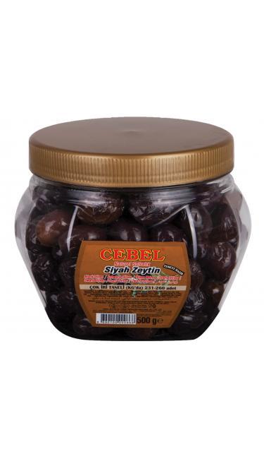 CEBEL S. ZEYTIN COK IRI TANELI PET 500 GR (olive noir cal.très gros)