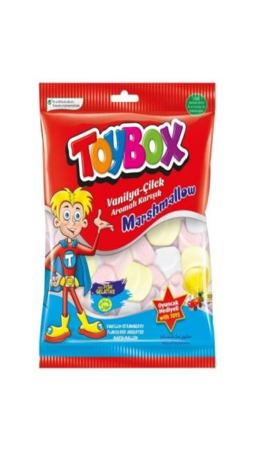TOYBOX MARSHMALLOW OYUNCAKLI 120Gr (marshmallow avec jouet)