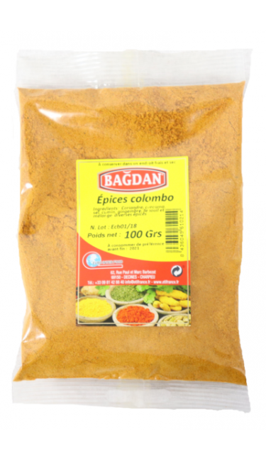 BAGDAN EPICES COLOMBO 100 GR