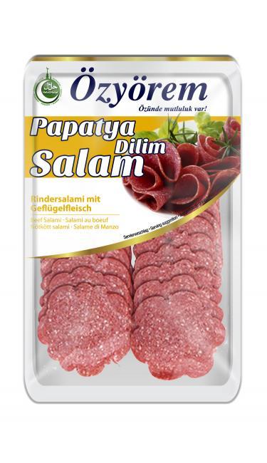 OZYOREM PAPATYA SALAMI 80 GR (tranches de salami)
