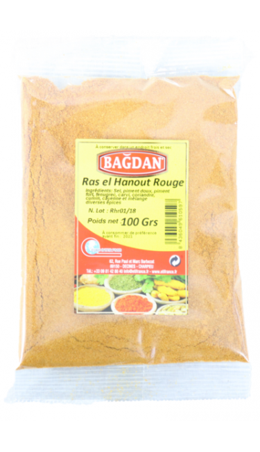 BAGDAN RAS EL HANOUT ROUGE (KIRMIZI) 100 GR