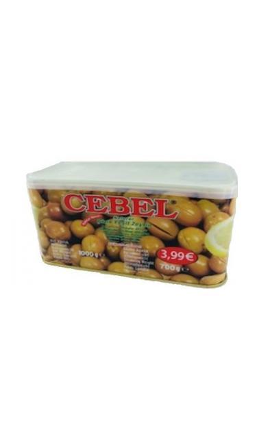 CEBEL Y. ZEYTIN CIZIK TENEKE 700 GR PROMO 3.99 (olives vertes en boite)